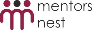 mentors nest_amarant_logo_century gothic